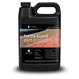 Black 1 gallon jug labeled Pentra-Guard EXT