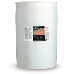 White 55 gallon drum labeled Pentra-Finish EXT