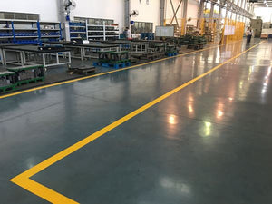 Warehouse floor treated with Pentra-Sil HD