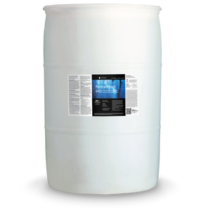 White 55 gallon drum labeled Pentra-Finish HG