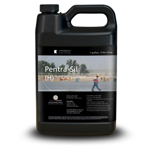 Black 1 gallon jug labeled Pentra-Sil H