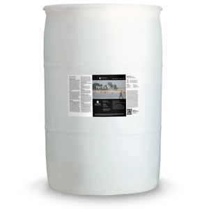White 55 gallon drum labeled Pentra-Sil H