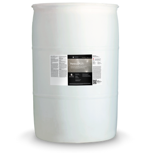 White 55 gallon drum labeled Pentra PCF