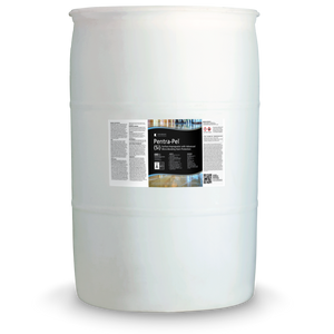 White 55 gallon drum labeled Pentra-Pel SI