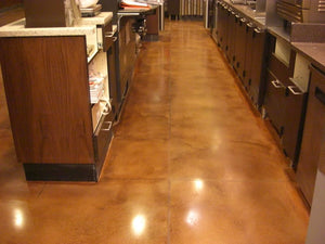 Starbuck's Concrete floor stained in Colorfast Stain