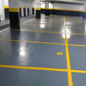 Parking lot lines colored with Pentra-Paint LM