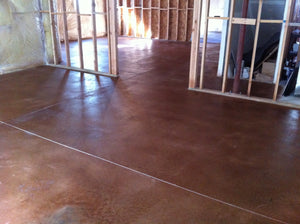 Basement Concrete Stained with Colorfast Stain