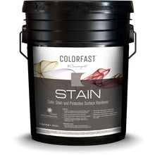 Load image into Gallery viewer, 5 gallon bucket of Colorfast stain from Convergent creates a stronger finish for concrete flooring