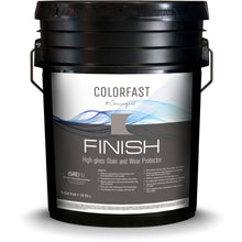 Load image into Gallery viewer, Black 5 gallon bucket labeled colorfast finish for concrete floors