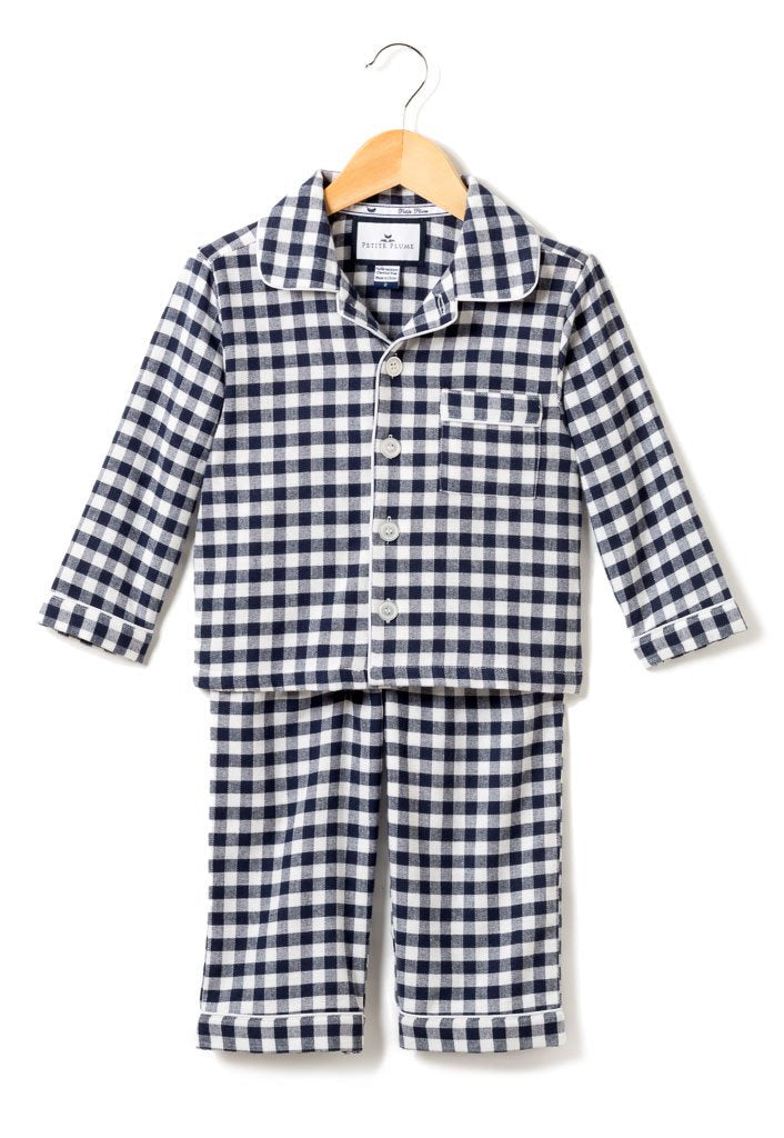 Pajama Set - Navy Gingham