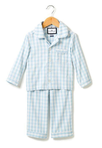 Pajama Set - Light Blue Gingham