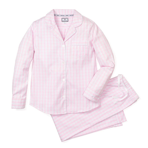 Women's Pajama Set - Pink Gingham