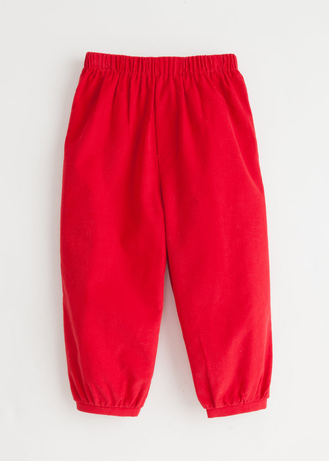 Banded Pull on Pant - Red Corduroy