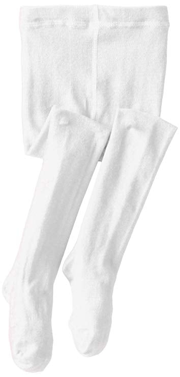 Seamless Organic Cotton Tights - White