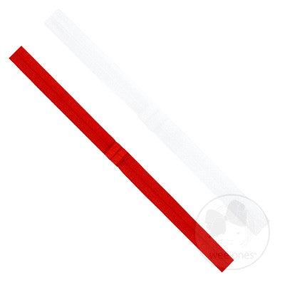 Add-a-Bow Elastic Bands - White and Red