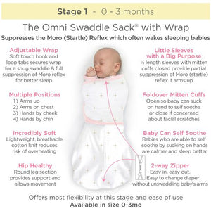 Omni Swaddle Sack with Wrap - Bella Pink