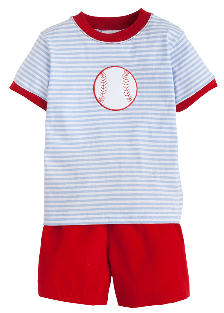 Applique Short Set - Baseball