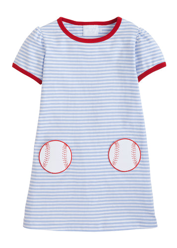 Applique T-Shirt Dress - Baseball