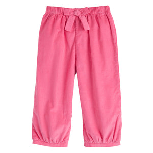 Banded Bow Pant - Hot Pink Corduroy