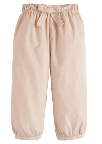 Banded Bow Pants - Tan Corduroy