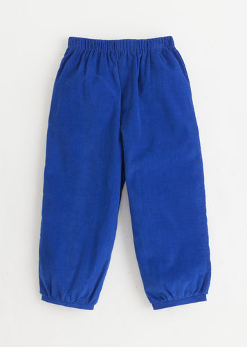Banded Pull on Pant - Royal Blue Corduroy