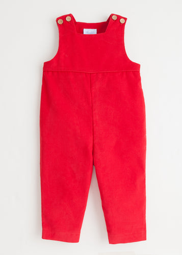 Basic Overall - Red Corduroy