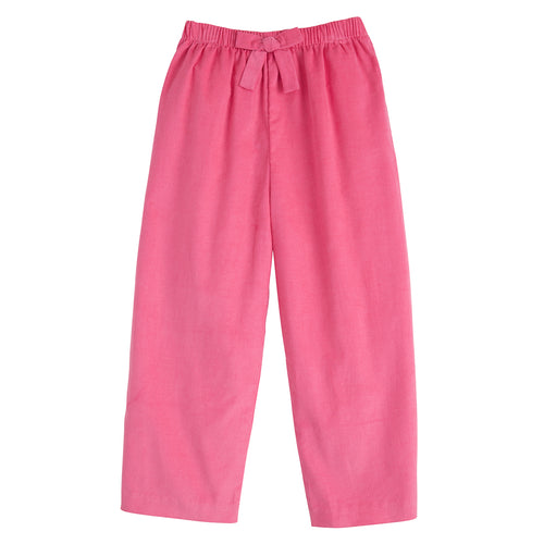 Bow Pant - Hot Pink Corduroy