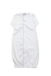 Pima Converter Gown - White with Blue