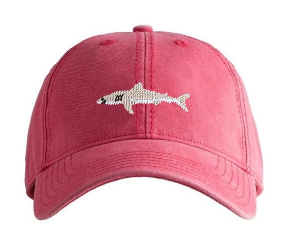 Great White Shark on Weathered Red Kids Hat