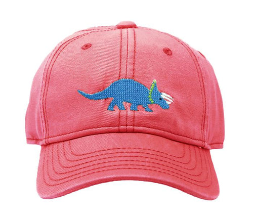 Triceratops on Weathered Red Kids Hat