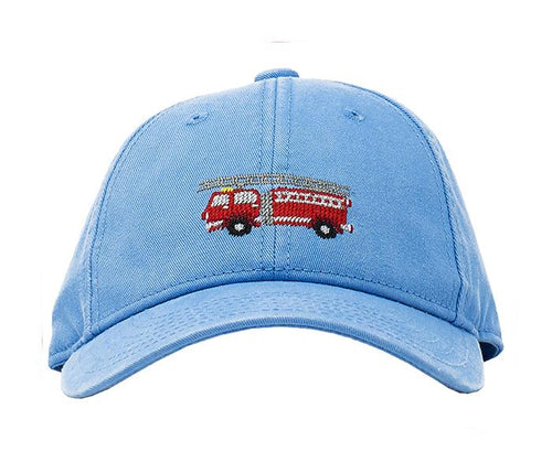 Firetruck on Light Blue Kids Hat