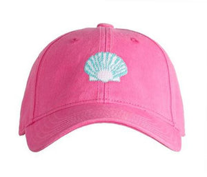 Scallop on Bright Pink Kids Hat