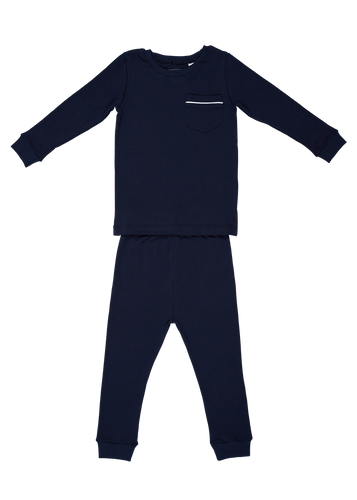 Bradford Two Piece Pajama Set - Navy