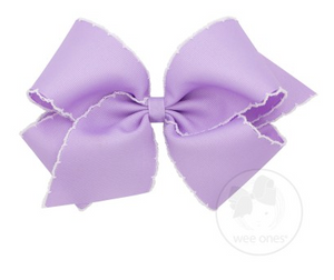 Light Orchid with White Moonstitch Bow