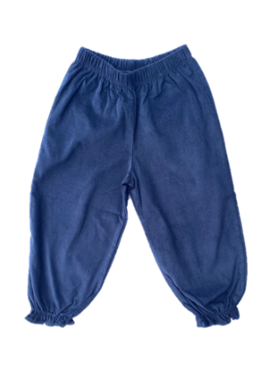 Corduroy Bloomer Pant with Ruffled Elastic Bottom