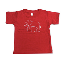 Elephant Short Sleeve Tee - Red