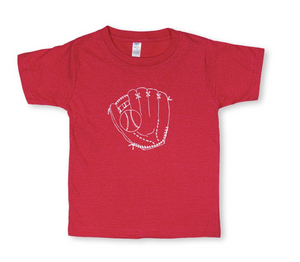 Baseball Glove Short Sleeve Tee - Red
