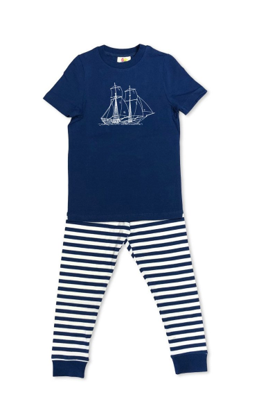 Pirate Ship Short Sleeve Sleepwear - Navy