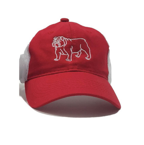 Bulldog Children's Trucker Hat - Red