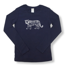 Tiger Long Sleeve Tee - Navy