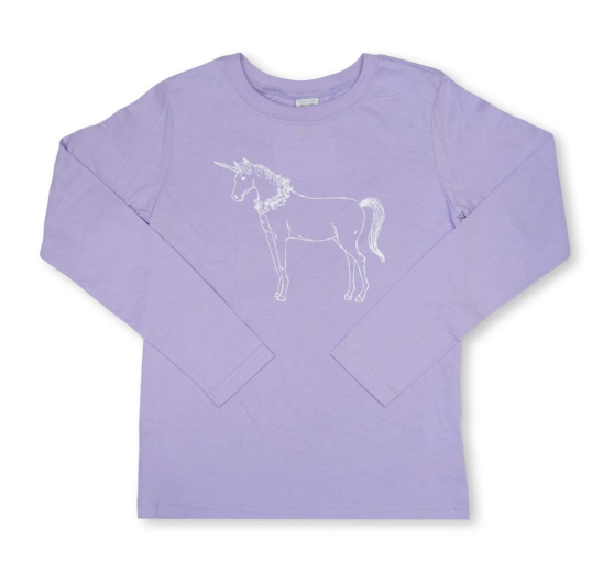 Unicorn Long Sleeve Tee - Purple