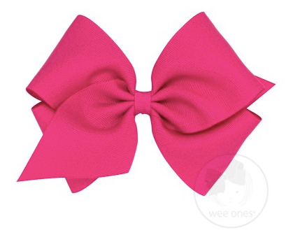 Shocking Pink Grosgrain Bow
