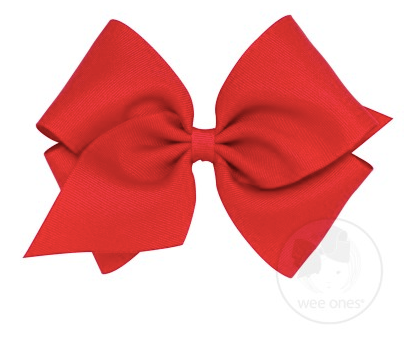 Red Grosgrain Bow