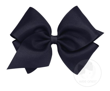 Navy Grosgrain Bow