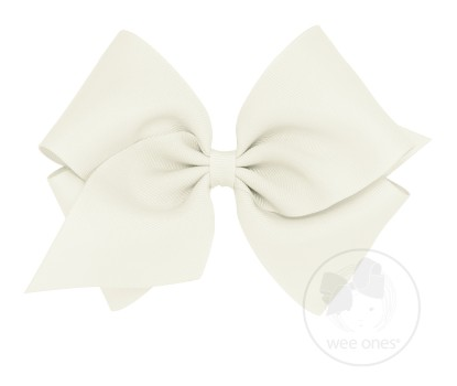 Antique White Grosgrain Bow