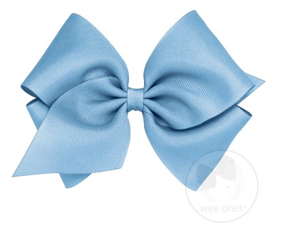 French Blue Grosgrain Bow