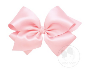 Light Pink French Satin Bow