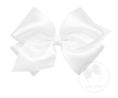 White French Satin Bow