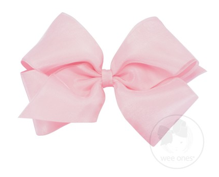 Light Pink Organza Overlay Bow