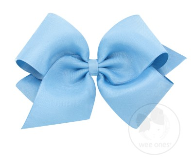 French Blue Organza Overlay Bow